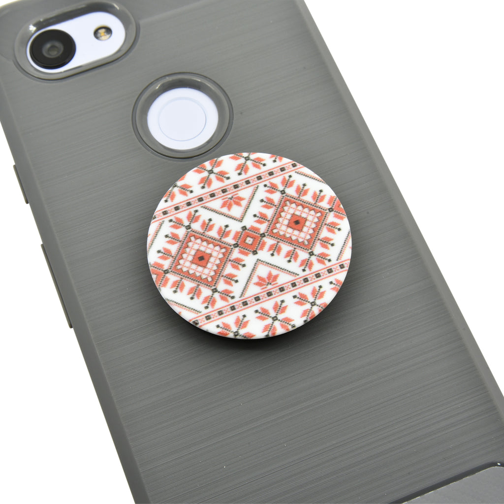Palestinian Printed Tatreez Design Cell Phone Grip