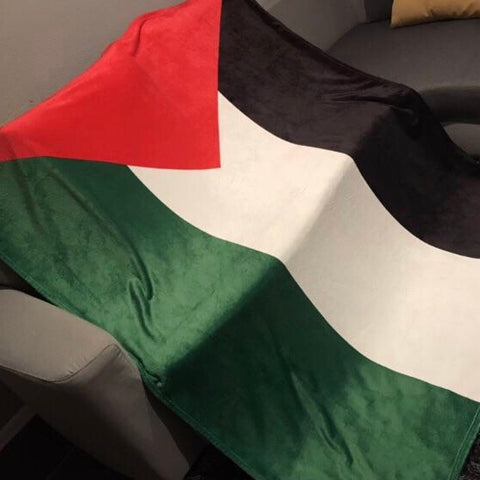Palestinian Flag Throw Blanket