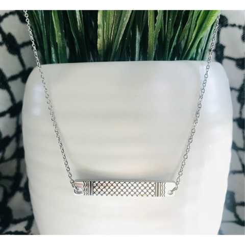 The Kuffiyeh Bar Necklace