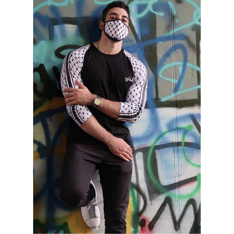 Falasteen Kuffiyeh Long Sleeve T-Shirt