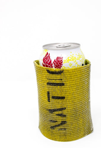 Yellow Fire Hose Can Cooler