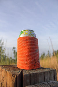 Orange Fire Hose Can Cooler