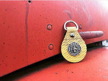 Yellow Fire Hose Key Ring