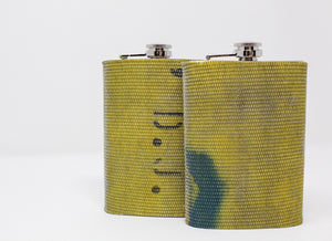 Two Yellow Fire Hose Flasks