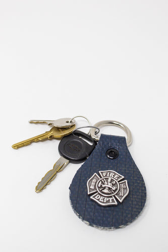 Fire Hose Key Ring with Maltese Cross