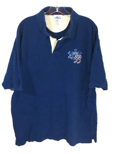 Disney Land Resort Embroidered 55 Mickey Crest Logo Polo Navy Blue Shirt Mens XL-Preowned - FunkyCrap Boutique