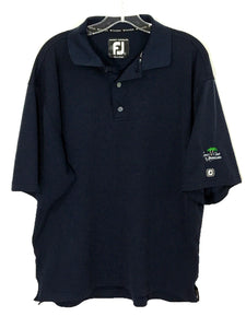 FootJoy FJ Prodry Superlite Navy Blue Legacy Club Alaqua Lakes Golf Polo Shirt L - Preowned - FunkyCrap Boutique