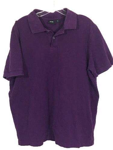 Hugo Boss Ferno Black Label Polo Short Sleeve Purple Sewn Logo Shirt Mens XL - Preowned - FunkyCrap Boutique
