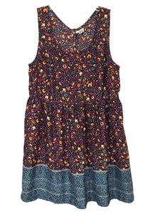 Urban Outfitters Ecote Dress Snap Open Back Floral Birds Boho Womens Medium M - Preowned - FunkyCrap Boutique