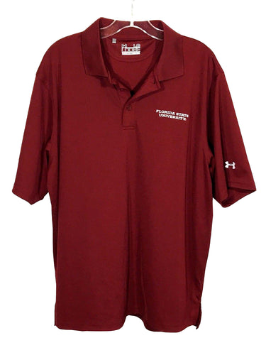 Florida State University FSU Seminoles Under Armour Loose Fit Polo Shirt Mens L - Preowned - FunkyCrap Boutique