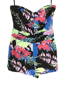 Kimchi Blue Urban Outfitters Romper Field Day Bright Floral Strapless Womens 4 - Preowned - FunkyCrap Boutique