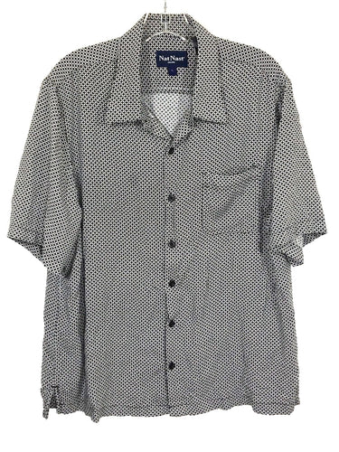 Nat Nast Short Sleeve Rayon Button Front Pocket Camp Casual Shirt Men's Large L - Preowned - FunkyCrap Boutique