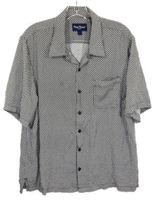 Nat Nast Short Sleeve Rayon Button Front Pocket Camp Casual Shirt Men's Large L - FunkyCrap Boutique