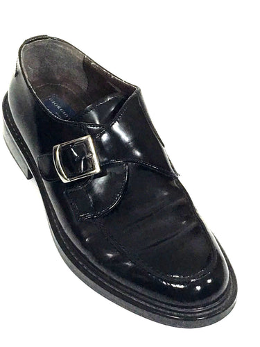Giorgio Brutini Monk Buckle Strap Slip On Loafers Black Italy Shoes Mens 10 - Preowned - FunkyCrap Boutique