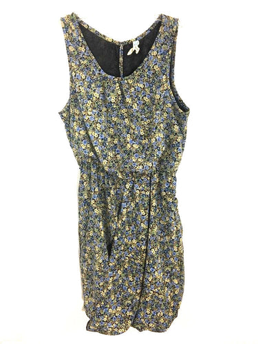 Maeve Anthropologie Dress Wildflower Foxtrot Bubble Brown Blue Pockets Womens 0 - Preowned - FunkyCrap Boutique