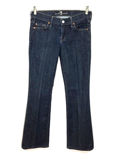 7 For All Mankind Jeans Bootcut Low Rise Dark Stretch Womens 26 (28 x 32) - Preowned - FunkyCrap Boutique