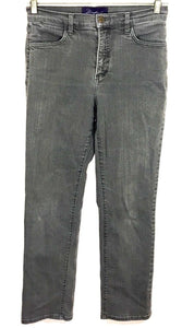 Not Your Daughter's Jeans NYDJ Gray Lift Tuck Straight Stretch Womens 4 P Petite - Preowned - FunkyCrap Boutique