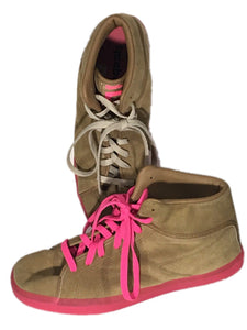 Reebok T Raww V55642 Brown Neon Pink Sneakers Tyga Young Money Shoes Mens 11 - FunkyCrap Boutique