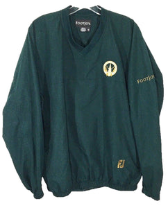 FootJoy FJ Northern Ohio Golf Association Pullover Green Gold Windbreaker Mens M - Preowned - FunkyCrap Boutique