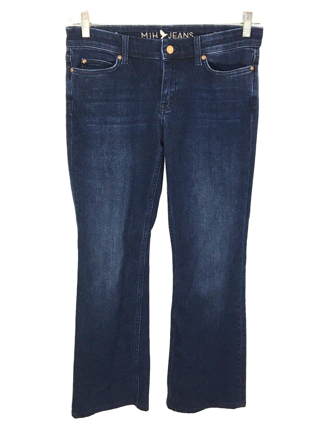 MiH Jeans The London Jean Mid Rise Subtle Bootcut Dark Wash Bond Womens 28 - Preowned - FunkyCrap Boutique