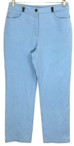 St. Johns Sport Essentials Light Blue Dress Business Pants Women's 8 29 x 29.5 - Preowned - FunkyCrap Boutique