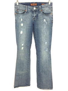 Seven 7 Jeans Boot Cut Medium Wash Distressed Jeans Women's 27 Actual 28 x 33 - FunkyCrap Boutique