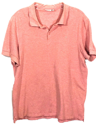 J. Lindeberg Light Red All Cotton 2 Button Polo Casual Shirt Men's Size XL - Preowned - FunkyCrap Boutique