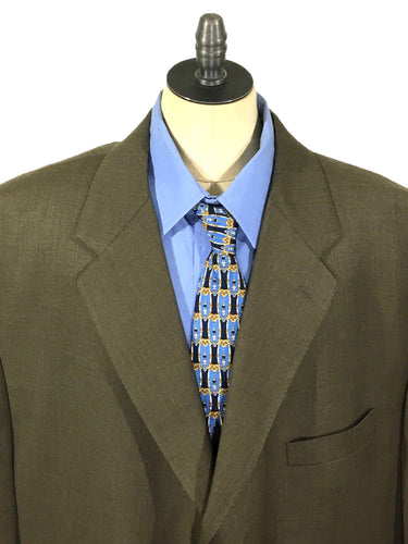 Lauren Ralph Lauren Brown 3 Button Wool Cashmere Blend Blazer Jacket Mens 50 R - Preowned - FunkyCrap Boutique