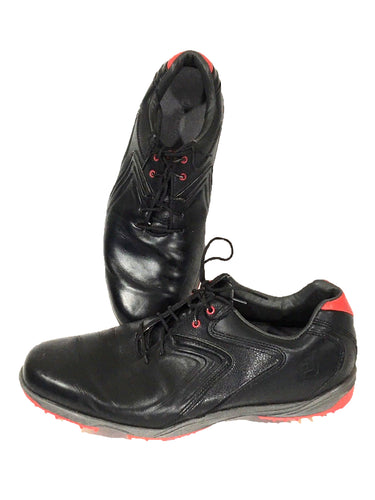 Footjoy 50048 Golf Shoes Black Red HydroLite Soft Tip Cleats Flex Zone Men 8.5 M - Preowned - FunkyCrap Boutique