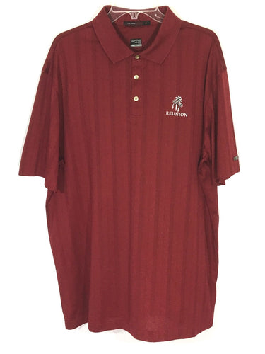 Tiger Woods Collection Nike Fit Dry Red Reunion Golf Resort Polo Shirt Mens XL - Preowned - FunkyCrap Boutique
