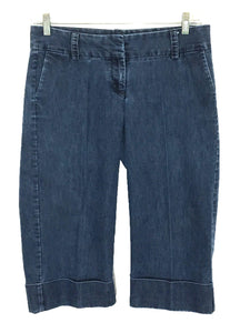 Gap Stretch Jean Capris Cuffed Back Flap Pockets Career Womens 10 Actual 31 X 19 - Preowned - FunkyCrap Boutique