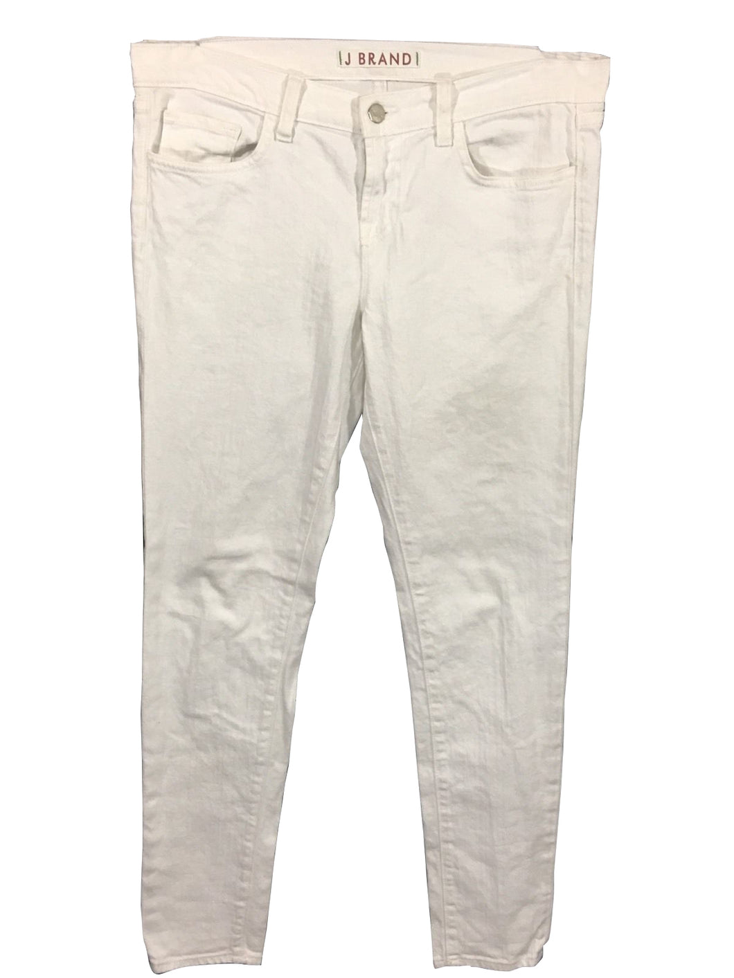 J Brand Skinny Leg Jeans 910 White Stretch 2239 Womens 29 / 6 Actual 32 x 29.5 - FunkyCrap Boutique