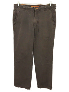 Reyn Spooner Hawaiian Cotton Lycocell Flat Front Brown Casual Pants Mens 32 x 30 - FunkyCrap Boutique