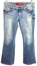 Guess Jeans 1981 Light Wash Daredevil Flare Leg Stretch Womens 29 Actual 30 x 32 - Preowned - FunkyCrap Boutique