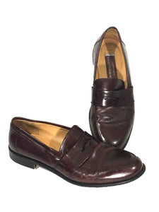 Johnston & Murphy Italy Penny Loafers Brown Slip On Shoes 15-1873 Mens 10 M - Preowned - FunkyCrap Boutique
