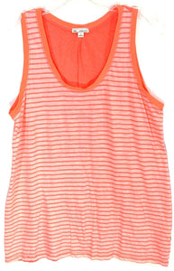 Gap Orange Striped Tank Top Sleeveless Shirt Contrast Stretch Womens Small S - Preowned - FunkyCrap Boutique