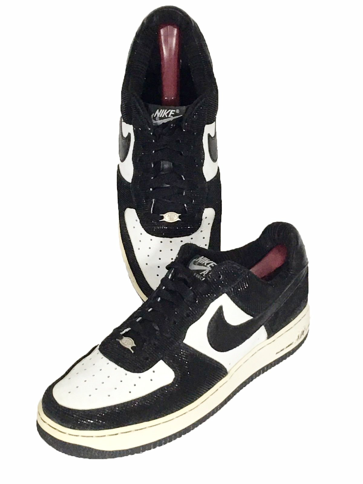 sneakers for cheap 25be2 6fe57 ... Nike Jordan Air Force 1 AF-1  82 309096-101 Orca Tuxedo Shoes ...