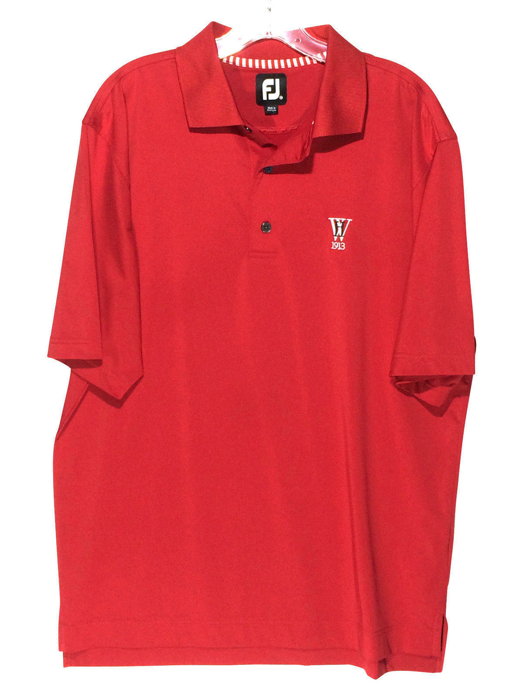 Footjoy FJ Red Westchester Hills Golf Club Lightweight Polo Shirt Men's Medium M - Preowned - FunkyCrap Boutique