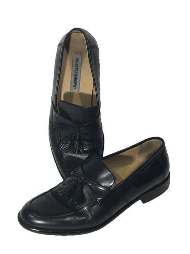 Johnston & Murphy Slip On Loafers Tassels Leather Shoes 15 1345 Mens 10 M - Preowned - FunkyCrap Boutique