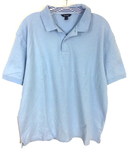 Faconnable Light Blue Knit Cotton 2 Button Polo Casual Shirt Men's Size XL-Preowned - FunkyCrap Boutique