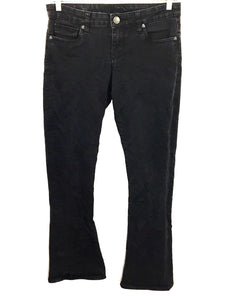 Kut From The Kloth Farrah Baby Boot Cut Black Jeans Women's 6  - Preowned - FunkyCrap Boutique