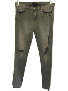 Flying Monkey Jeans Low Rise Skinny Leg Distressed Olive Wash Women's Size 29 - Preowned - FunkyCrap Boutique