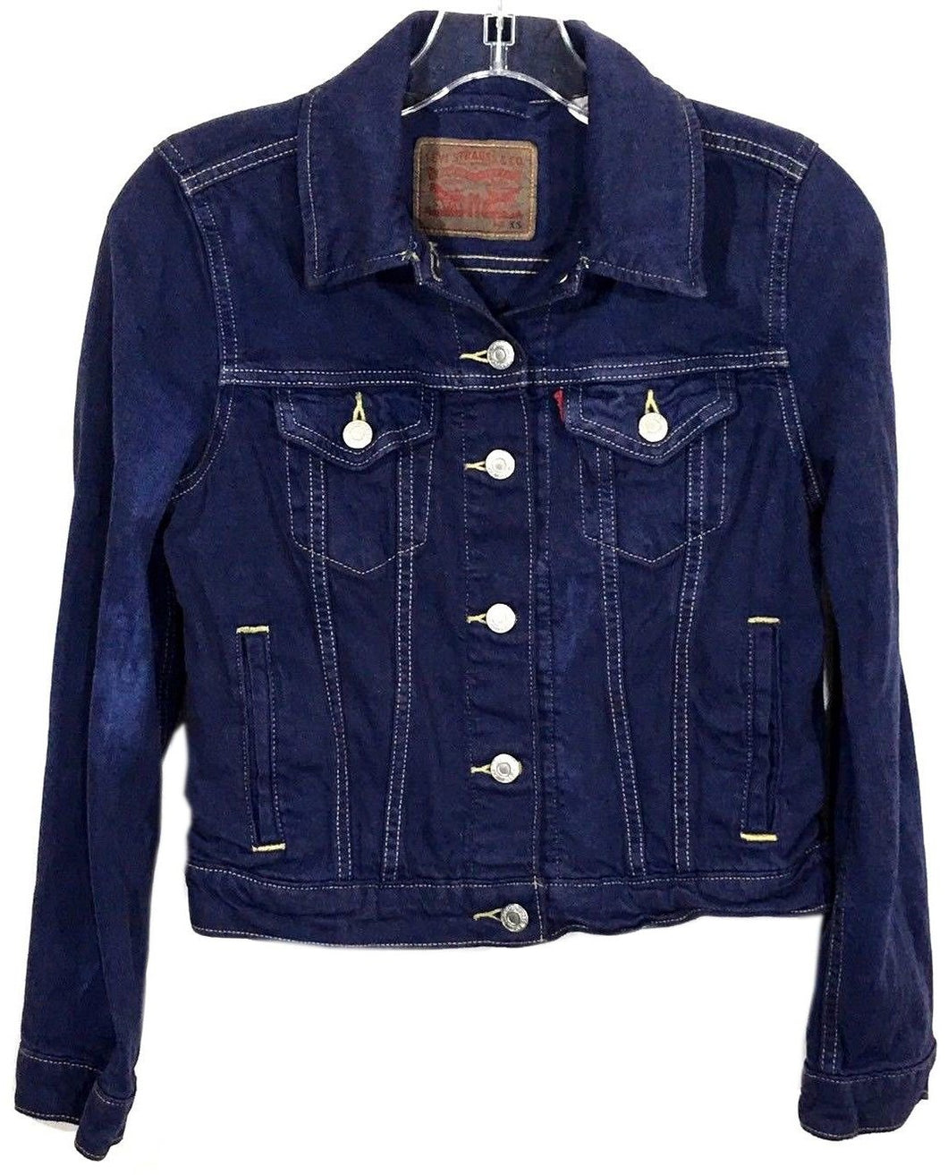 Levi Strauss Button Down 4 Pocket Blue Wash Denim Jean Jacket Women's Size XS - Preowned - FunkyCrap Boutique