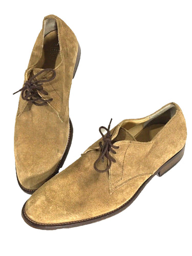 Coach Leatherware Dress Shoes Suede Oxfords Italy Lace P723 Eaton L04 Mens 9.5 D - Preowned - FunkyCrap Boutique