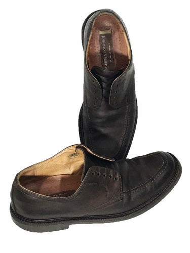 Johnston Murphy Shoes Italy 20-1645 Brown Oxfords Mens 9.5 - Preowned - FunkyCrap Boutique