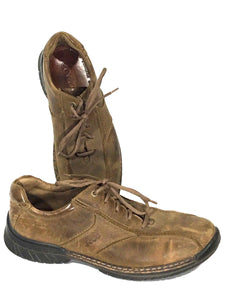 Ecco Shoes Brown Vegetable Tanned Light Shock Point Oxford Men 44 EU 10-10.5 US - Preowned - FunkyCrap Boutique