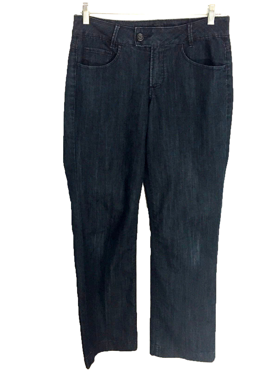 JAG Jeans Mid Rise Trouser Pants Dark Blue Cotton Blend Womens 8 Actual 30 x 33 - Preowned - FunkyCrap Boutique