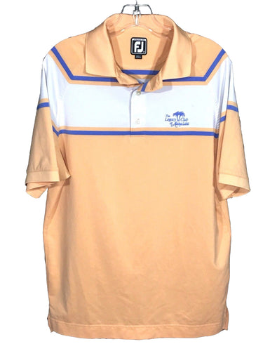 Footjoy FJ Legacy Club at Alaqua Lakes Athletic Fit Peach Golf Polo Shirt Men M - Preowned - FunkyCrap Boutique