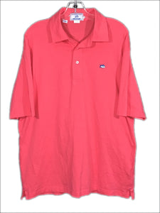 Southern Tide Sport Club Fit Polo Fish Logo Salmon Pink Pima Cotton Shirt Mens L - Preowned - FunkyCrap Boutique