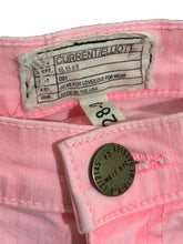 Current Elliott Jeans The Stiletto Bright Day Glow Pink Crop Stretch Womens 28 - Preowned - FunkyCrap Boutique